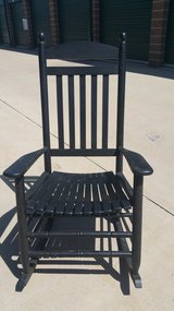 2 black rocking chairs in Fort Carson, Colorado