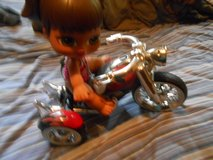 bratze doll and her motorcycle in Fort Knox, Kentucky