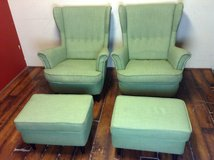 Pair of Wing Back Chairs and Ottomans (Ikea) STRANDMON in CyFair, Texas