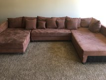 Brown Sectional Couch in Fort Carson, Colorado