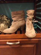 Women's size 7 taupe booties in Fort Lewis, Washington