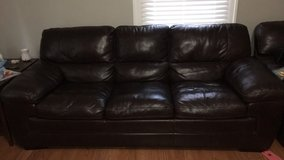 Leather Couch and Loveseat in Byron, Georgia