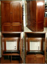 Beautiful Solid Wood Armoire Entertainment Center in Byron, Georgia