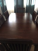Dark wood dining table in Ramstein, Germany