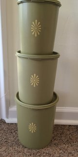 Vintage set three Tupperware canisters in Beaufort, South Carolina