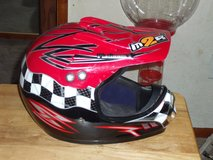 M2R Red and Black dirt bike helmet youth small in Barstow, California