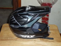 FLY Black and Silver dirt bike helmet youth Large in Barstow, California