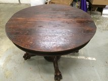 Antique Claw foot table with barrel pedestal in Fort Knox, Kentucky