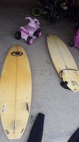 Surf boards in Camp Pendleton, California
