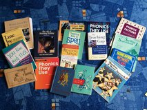 15 books on teeaching reading, writing, and spelling in Ramstein, Germany