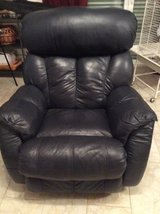 Navy leather recliner in Ramstein, Germany