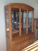 Solid Oak Dining Room Table with 6 matching chairs and also Matching China Cabinet in Naperville, Illinois