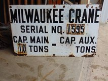 Old Porcelain Sign in Naperville, Illinois