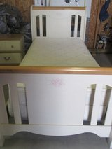 Twin Sleigh Bed with pillow top mattress and box spring in Alamogordo, New Mexico