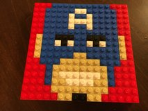 Lego Captain America Mosaic in Joliet, Illinois