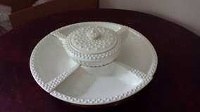 Milk Glass lazy susan serving dish in Sandwich, Illinois