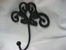 Antique-Black-Rod-Iron-Hook-Filigree-French-Country-D... in Kingwood, Texas