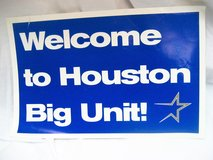Collectible 1998 Big Unit Houston Astros MLB Newspaper Sign Publication Johnson in Kingwood, Texas