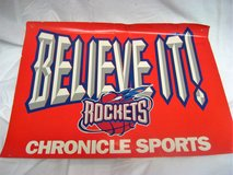 Collectible Houston Rockets NBA Newspaper Sign Publication 1996 2nd Championship in Kingwood, Texas