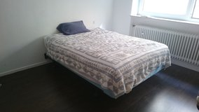 Queen Size Bed - with 2 Mattresses in Ramstein, Germany