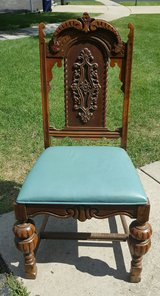 Beautiful Carved Wooden Chair-- $20 in Lockport, Illinois