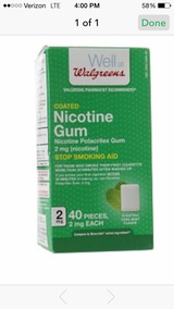 Nicotine Gum (Nicorette) 8 boxes available in Camp Lejeune, North Carolina