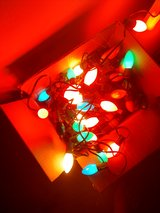 vintage xmas lights ( 5 strings large bulb ) in Fort Bliss, Texas
