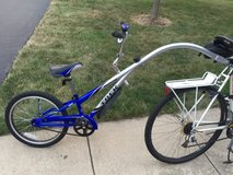 3rd wheel Bicycle attachment - Trailer bike - trailer cycle in Glendale Heights, Illinois
