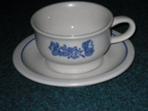 pfaltzgraff yorktowne cup/saucer-9 sets in Glendale Heights, Illinois