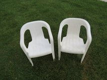 Two kid resin chairs in Algonquin, Illinois