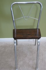 Vintage kids metal/wood chair in Algonquin, Illinois