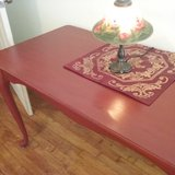 Vintage Red Entryway Table in Fort Sam Houston, Texas