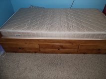 Twin platform bed with mattress in Fort Riley, Kansas