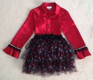 Girls Pirate Costume Hot Topic Skirt and Embellished Byer California Blouse Size Medium 8-10 in Aurora, Illinois