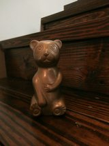 Vintage brass panda bear bank in Cleveland, Texas