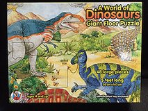 A World of Dinosaurs Giant Floor Puzzle 48 Large Pieces (5 Feet Long) Ages 4+ in Bartlett, Illinois