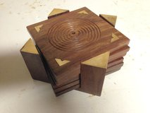 Set of 6 Wooden Coasters in St. Charles, Illinois