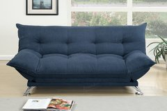 PLUSH SOFT FUTON SOFA BED WITH ADJUSTABLE ARMS in 29 Palms, California