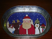 "16x11-3/4"" santa tin tray in Chicago, Illinois"