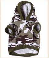 Camo Dog Hoodie - Size M and L in Kingwood, Texas