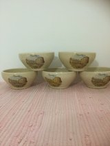 French Poterie set of five bowls from France in Ramstein, Germany
