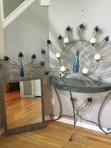 Peacock Mirror with Glass Table in Minneapolis, Minnesota