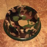Large Army Print Dog Bowl New in Batavia, Illinois