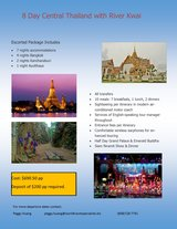 Central Thailand with River Kwai (8 days) in Okinawa, Japan
