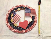 "Patriotic 4th of July Wreath  15"" in Joliet, Illinois"