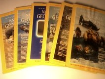 Vintage National Geographic 6 Volume Leather Bound Set  Jan- Jun 1984 in Fort Campbell, Kentucky