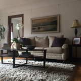 Gorgeous Linen Sofa in perfect condition in Fort Lewis, Washington