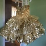 Gold formal dress, size 8/10 in Clarksville, Tennessee