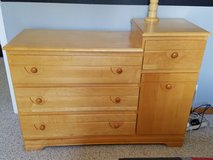 Natural Maple Dresser/Changing table in Plainfield, Illinois