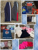 Boy and girl toddler clothes 18 mth - 2T mostly long sleeve in Bolingbrook, Illinois